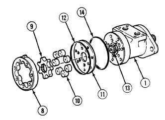 Geroler assembly for Char lynn 6000 series motor specs