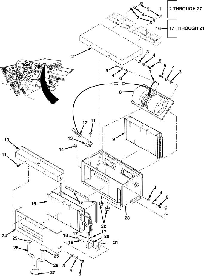 fig  5  ac heater  evaporator assembly
