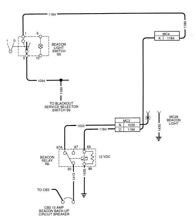 beacon light wiring diagram   27 wiring diagram images