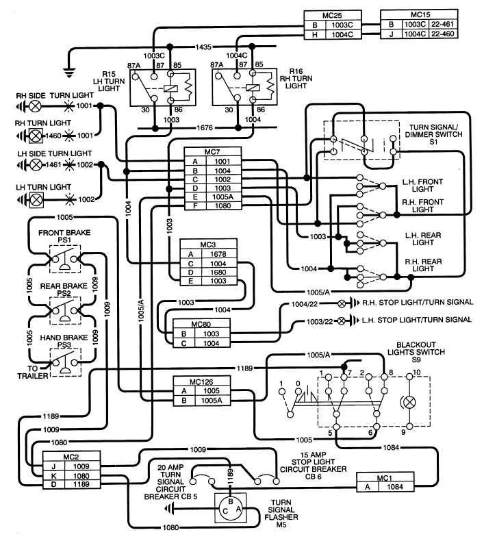 Figure 2 32 Turn Signals Brake Lights Wiring Schematic