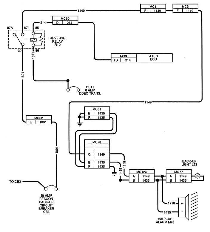 Figure 2 33 Reverse Light Wiring Schematic
