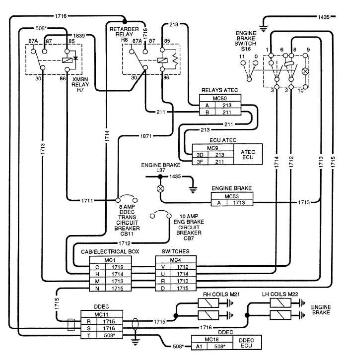 12 7 Detroit Diesel Engine Diagram together with 1999 Plymouth Voyager Fuse Box together with 2004 Lly 6 6l Gm Trucks Duramax Fast Idle Wiring Diagram besides TM 9 2320 364 20 2 351 further 1989 Ford Bronco Electrical Diagrams. on freightliner charging system