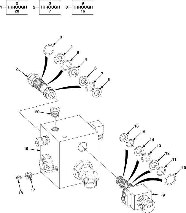 fig  499 emm power interface kit hydraulic valve assembly